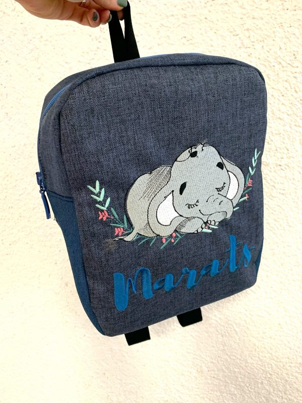 personalised backpack elephant